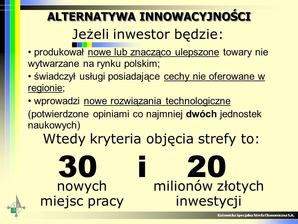 Katowicka Specjalna Strefa Ekonomiczna S.A. ALTERNATYWA INNOWACYJNOŚCI produkował nowe lub znacząco ulepszone towary nie wytwarzane na rynku polskim;
