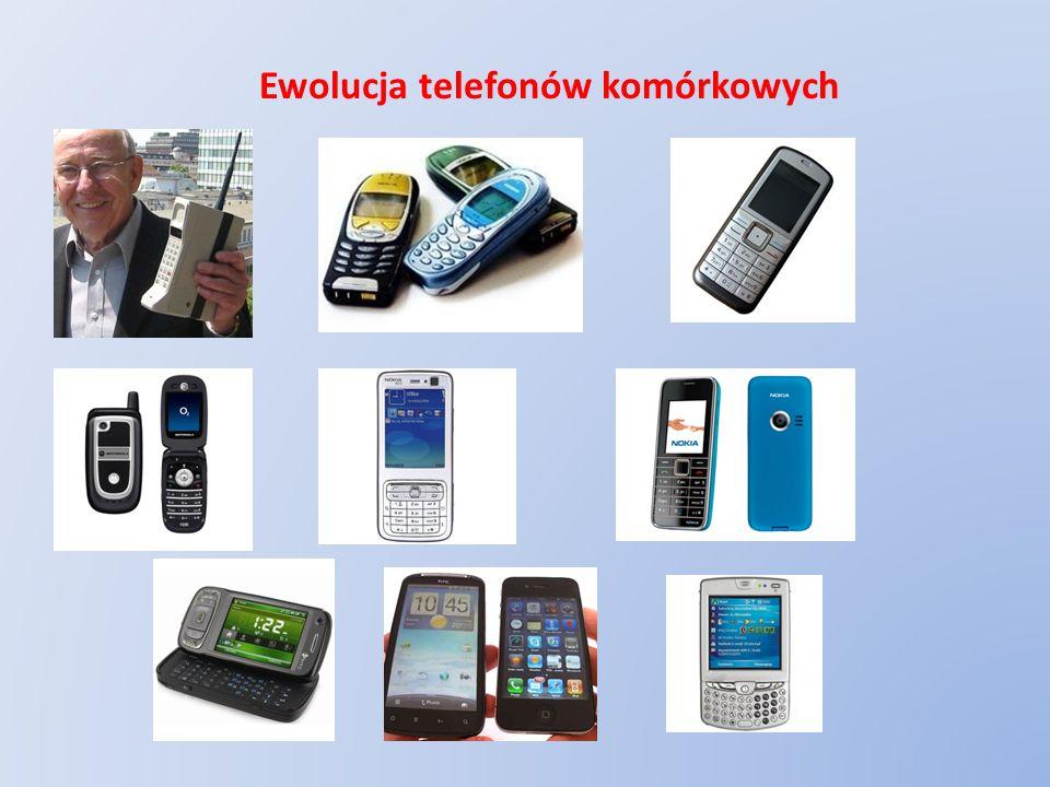 Współczesne funkcje telefonu komórkowego = łączność telefoniczna = książka adresowa = wysyłanie i odbieranie SMSów i MMSów = aparat fotograficzny = kamera wideo = odtwarzacz multimedialny = organizer (kalendarz, lista spraw, notatki, kalkulator) = zegar, stoper, budzik, alarm = odbiornik radiowy = połączenie z siecią bezprzewodową (Wi-Fi) = łączność i pełna obsługa Internetu = przenośna pamięć = połączenie z komputerem (kabel, bluetooth) = gry i rozrywka = dyktafon = rejestry rozmów, SMSów, MMSów, pakietów transmisji i tp.