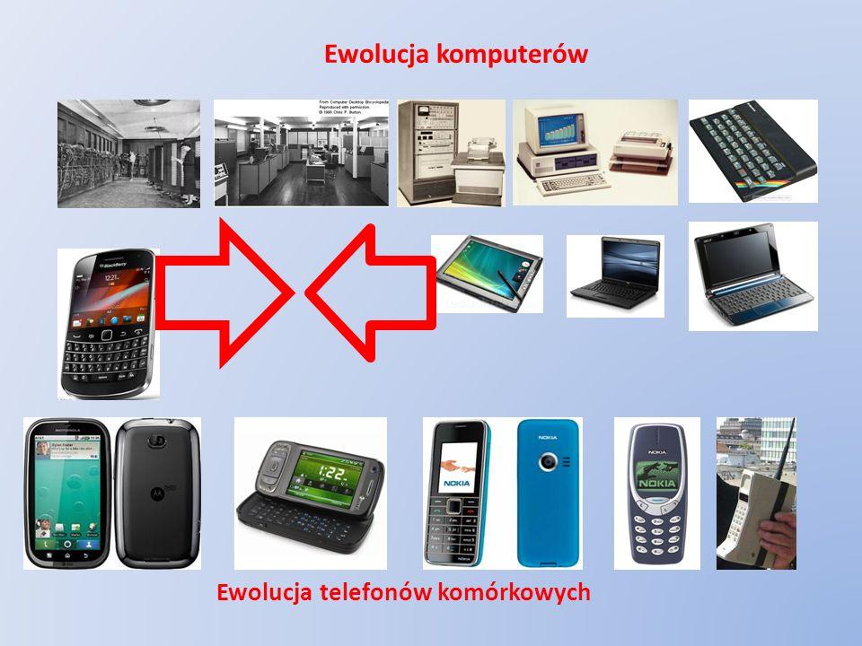 Ewolucja telefonów komórkowych Ewolucja komputerów