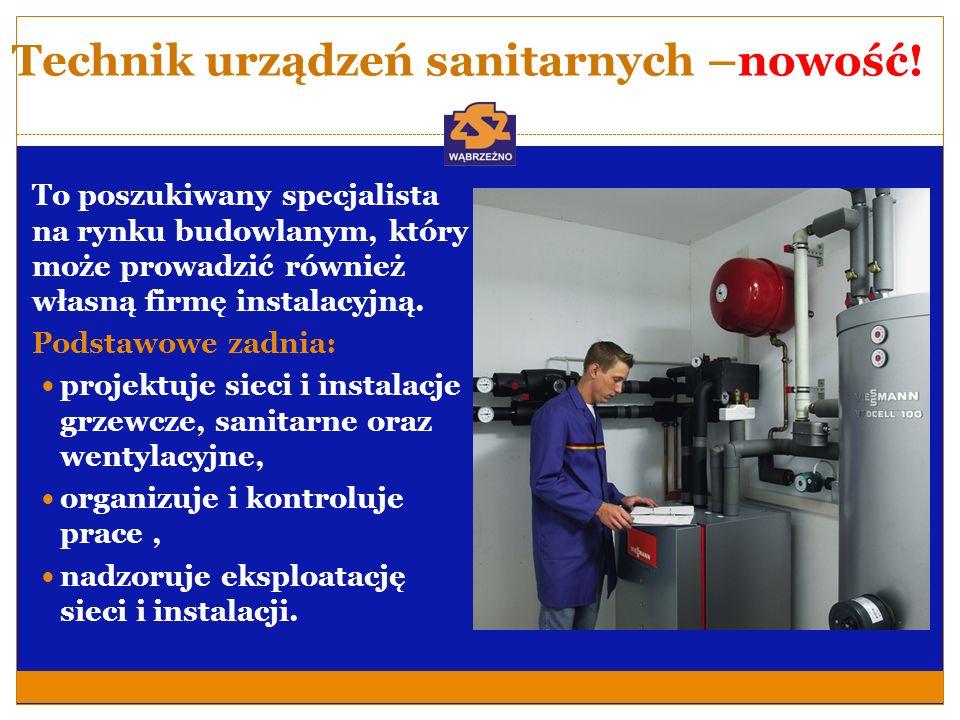 Technik urządzeń sanitarnych-nowość.