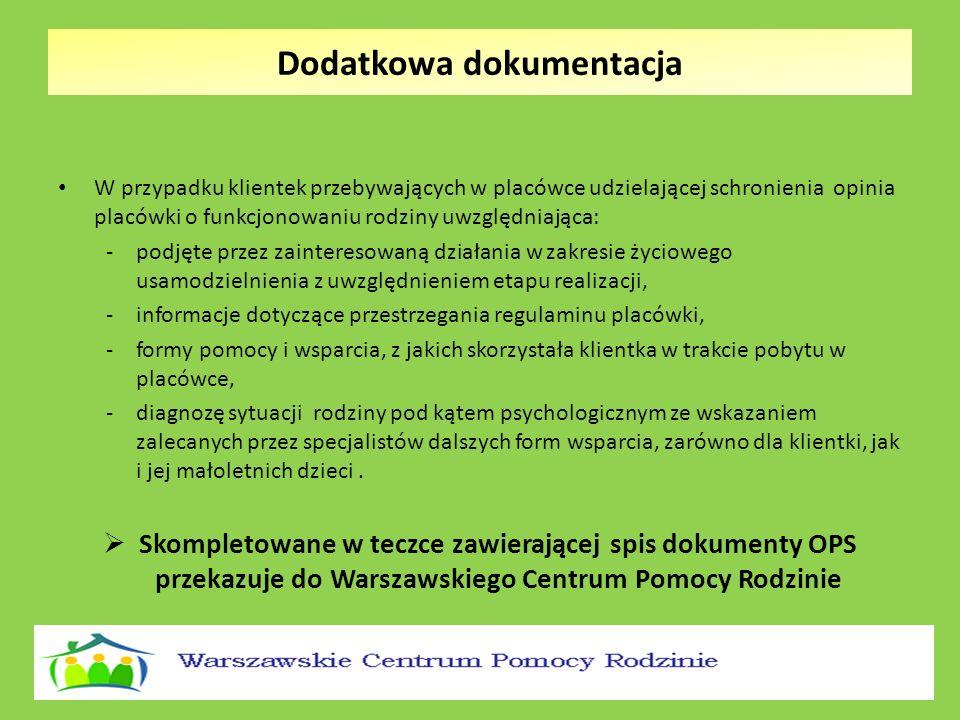 Warszawskie Centrum Pomocy Rodzinie w imieniu Prezydenta m.st.