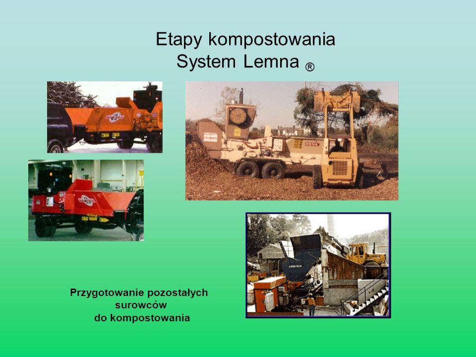 Etapy kompostowania System Lemna ® Przygotowanie pozostałych surowców do kompostowania