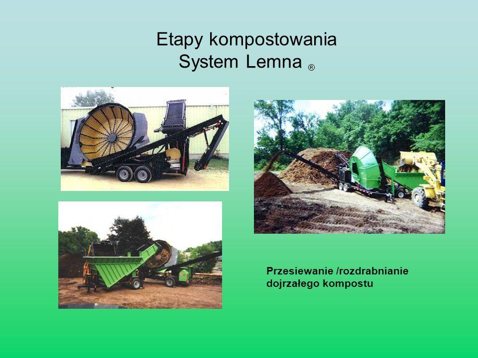Przesiewanie /rozdrabnianie dojrzałego kompostu Etapy kompostowania System Lemna ®