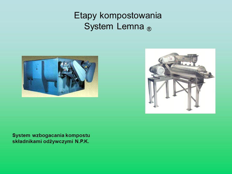 System wzbogacania kompostu składnikami odżywczymi N.P.K. Etapy kompostowania System Lemna ®