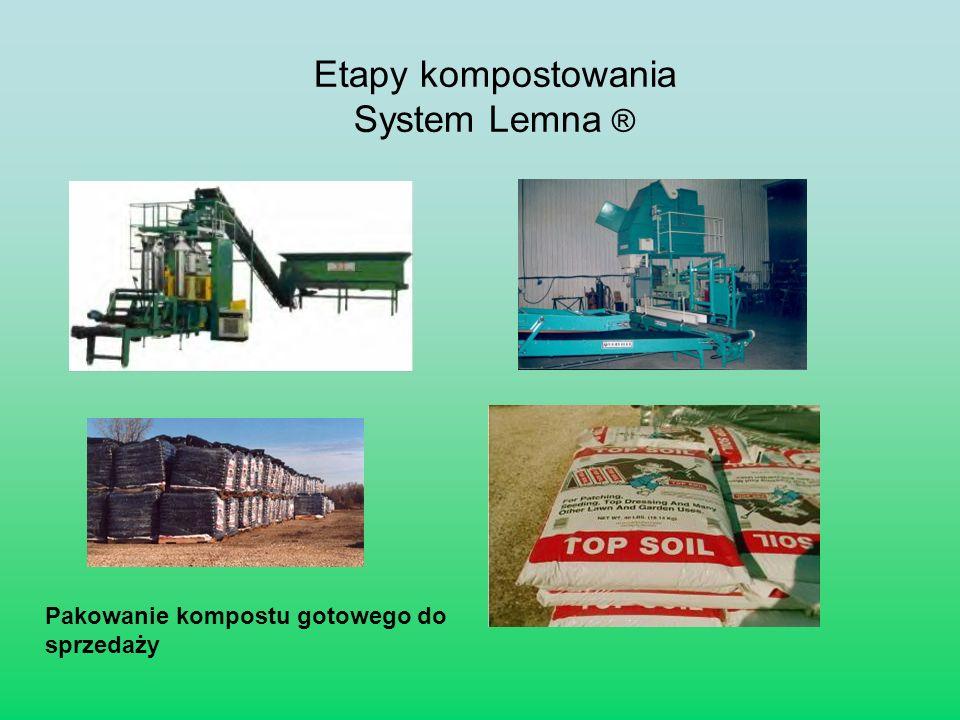 Pakowanie kompostu gotowego do sprzedaży Etapy kompostowania System Lemna ®