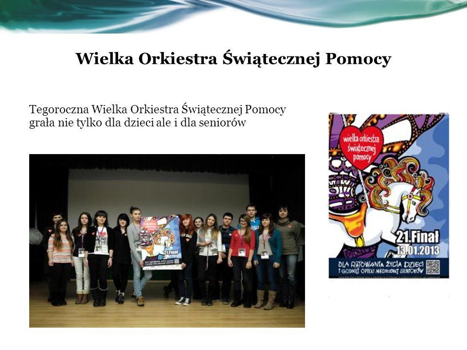 Wielka Orkiestra Świątecznej Pomocy Tegoroczna Wielka Orkiestra Świątecznej Pomocy grała nie tylko dla dzieci ale i dla seniorów