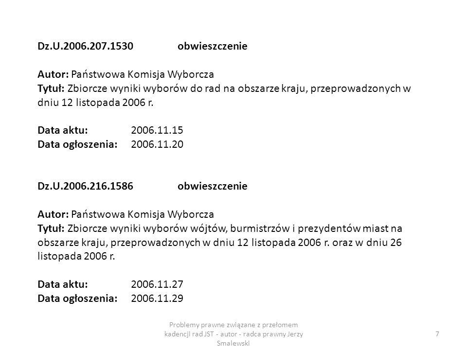 Zarząd Powiatu Art.28. Zarząd powiatu działa do dnia wyboru nowego zarządu, z zastrzeżeniem art.