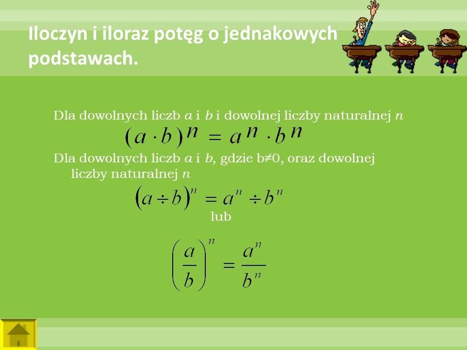 Ćwiczenie A.Liczbę 32 zapisz w postaci trzech różnych iloczynów potęg.