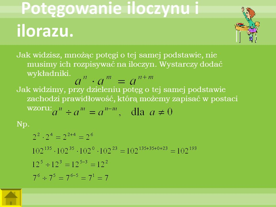 Wyraź w metrach, a następnie zapisz wynik w postaci notacji wykładniczej: a)1 km = b)2 km = c)2,4 km = d)5,2 km = e)14 km = f)168 km = ZadaniaWzory