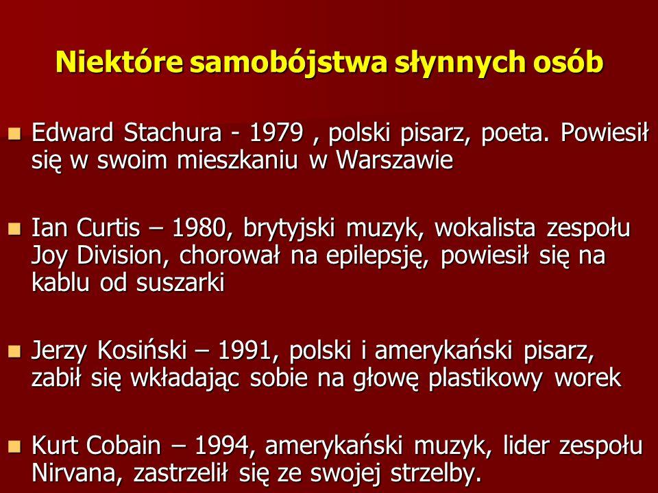 Edward Stachura - 1979, polski pisarz, poeta. Powiesił się w swoim mieszkaniu w Warszawie Edward Stachura - 1979, polski pisarz, poeta. Powiesił się w