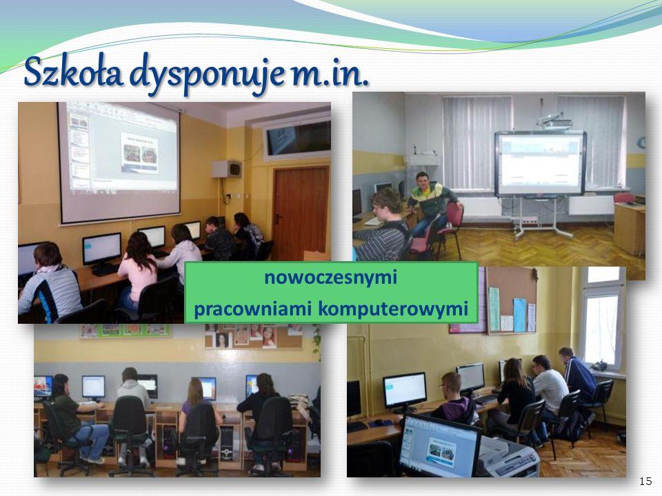 Szkoła dysponuje m.in. Pracownią religijną Pracownią matematyki z tablicą interaktywną 16