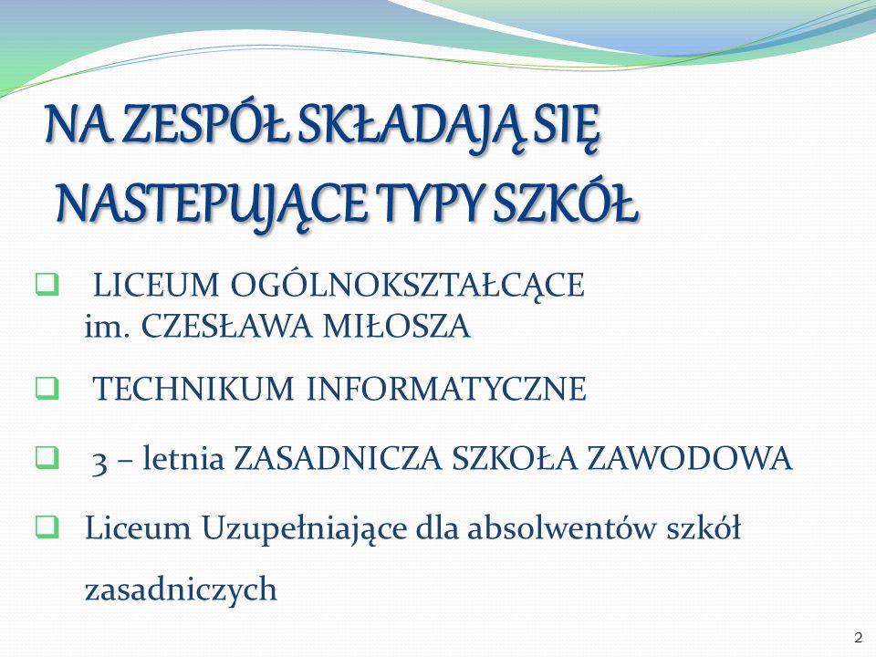 Obejmuje następujące oddziały: Humanistyczny Medyczny Europejski Menedżerski Lingwistyczny