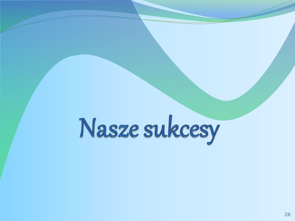 Nasze sukcesy w roku 2010 III miejsce w Wojewódzkim Konkursie Literackim Młodzież pamięta w Łodzi - Angelika Wodniak.