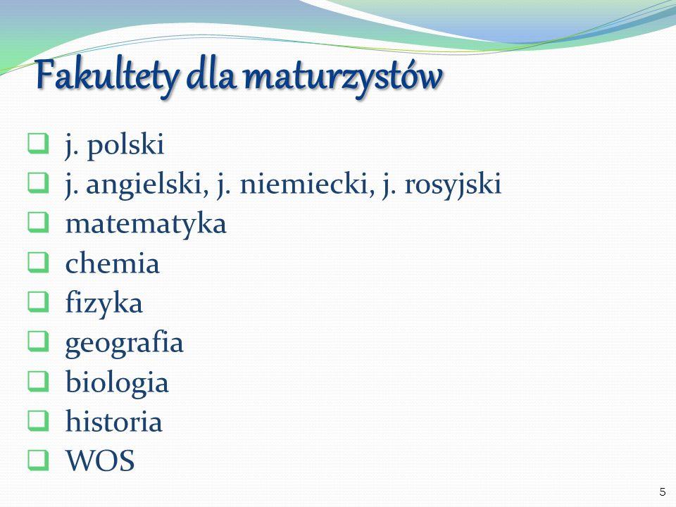 6 Zawód Przedmioty rozszerzone Języki obce Przedmioty uwzględnione w rekrutacji Technik informatyk matematyka, j.