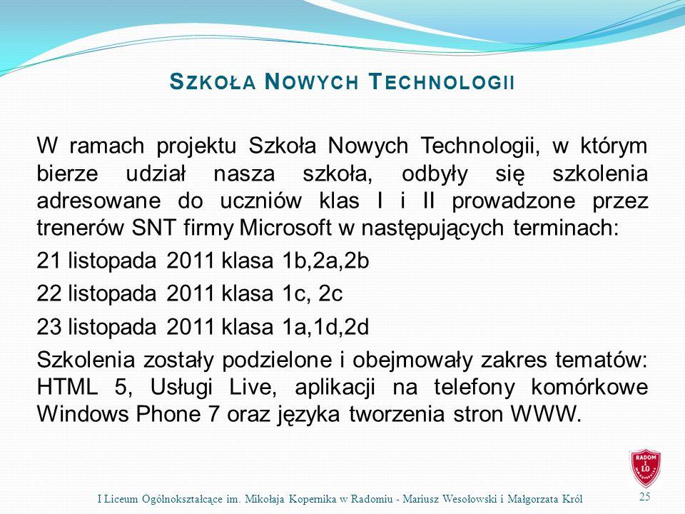 25 I Liceum Ogólnokształcące im.
