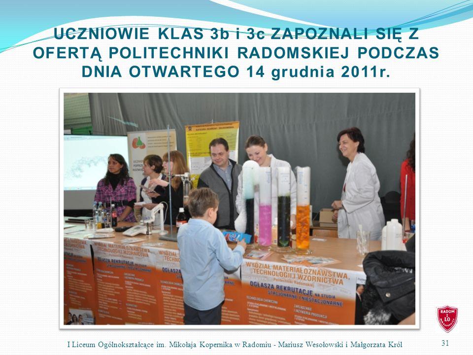 31 I Liceum Ogólnokształcące im.