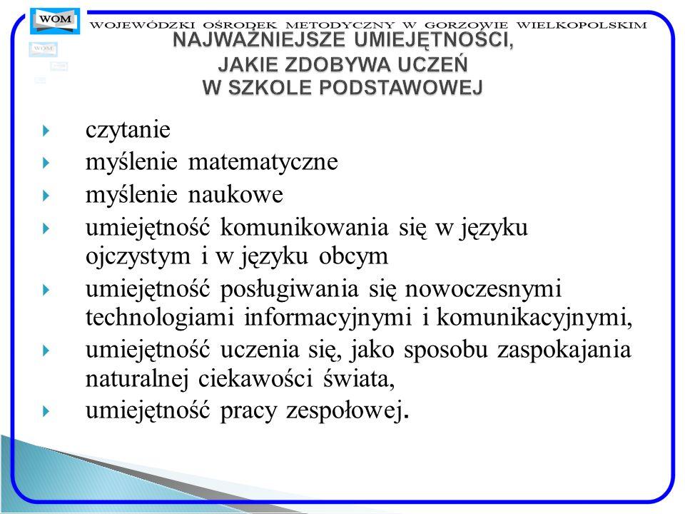 Wiadomości umiejętności, które uczeń zdobywa na każdym etapie edukacyjnym opisane są, zgodnie z ideą europejskiej struktury kwalifikacji, w języku efektów kształcenia.