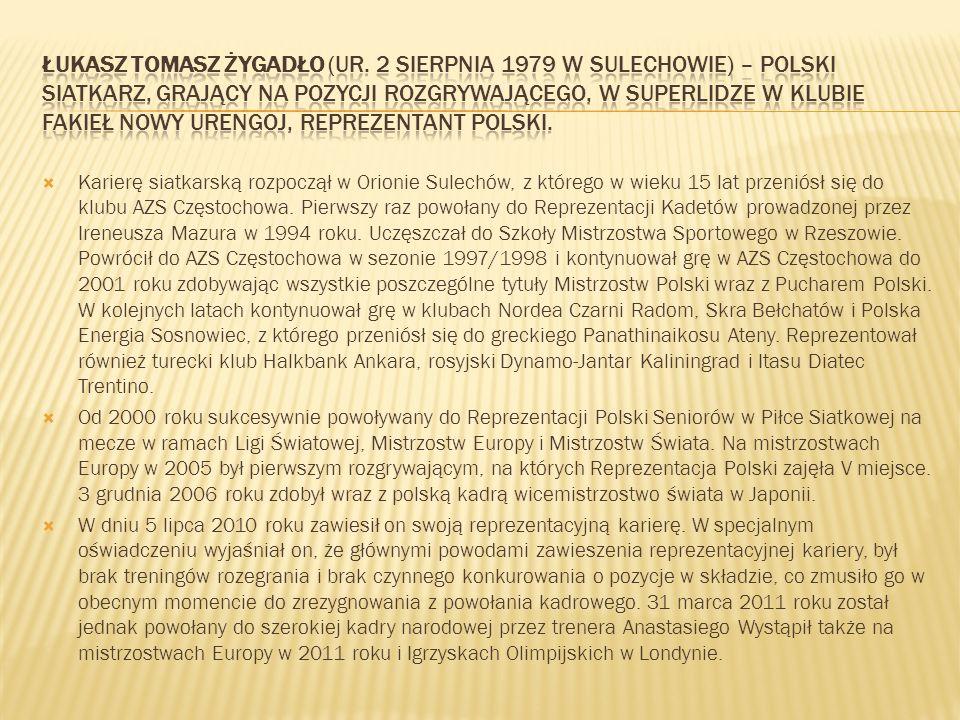 Karierę siatkarską rozpoczął w Orionie Sulechów, z którego w wieku 15 lat przeniósł się do klubu AZS Częstochowa. Pierwszy raz powołany do Reprezentac