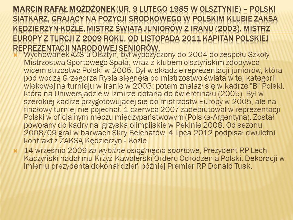 Wychowanek AZS-u Olsztyn, był wypożyczony do 2004 do zespołu Szkoły Mistrzostwa Sportowego Spała; wraz z klubem olsztyńskim zdobywca wicemistrzostwa P