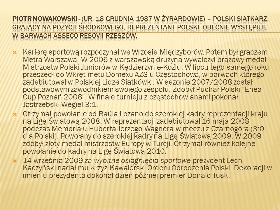 Karierę sportową rozpoczynał we Wrzosie Międzyborów. Potem był graczem Metra Warszawa. W 2006 z warszawską drużyną wywalczył brązowy medal Mistrzostw