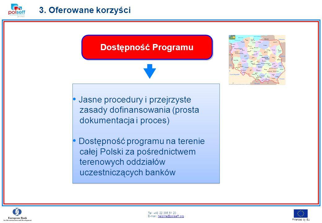 Tel: +48 22 395 51 20 E-mail: helpline@polseff.orghelpline@polseff.org Financed by EU Jasne procedury i przejrzyste zasady dofinansowania (prosta doku