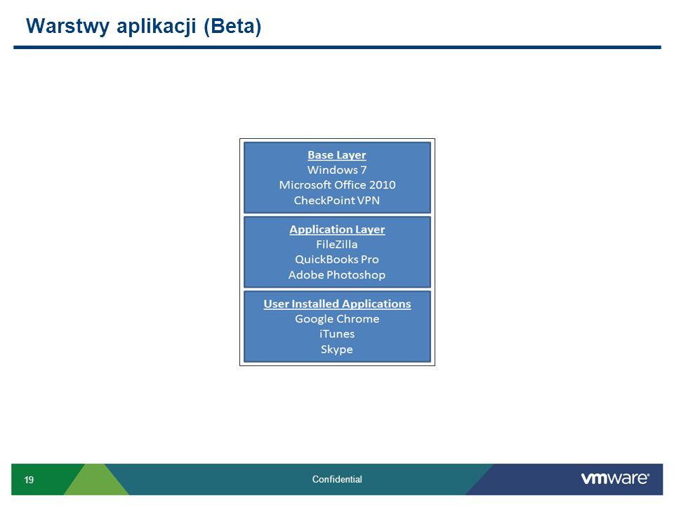 19 Confidential Warstwy aplikacji (Beta)
