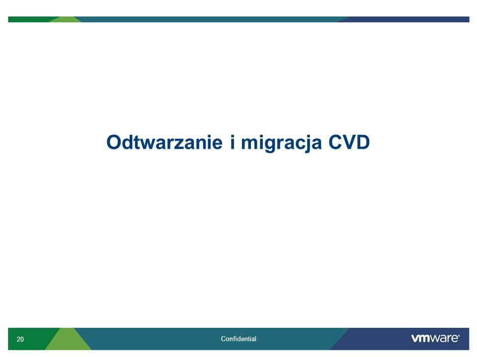 20 Confidential Odtwarzanie i migracja CVD