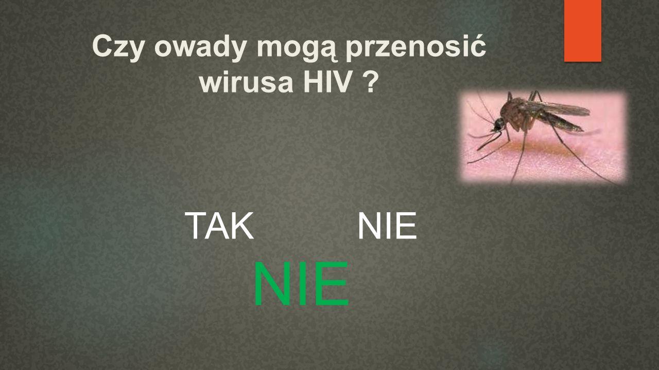 Czy owady mogą przenosić wirusa HIV ? TAK NIE NIE