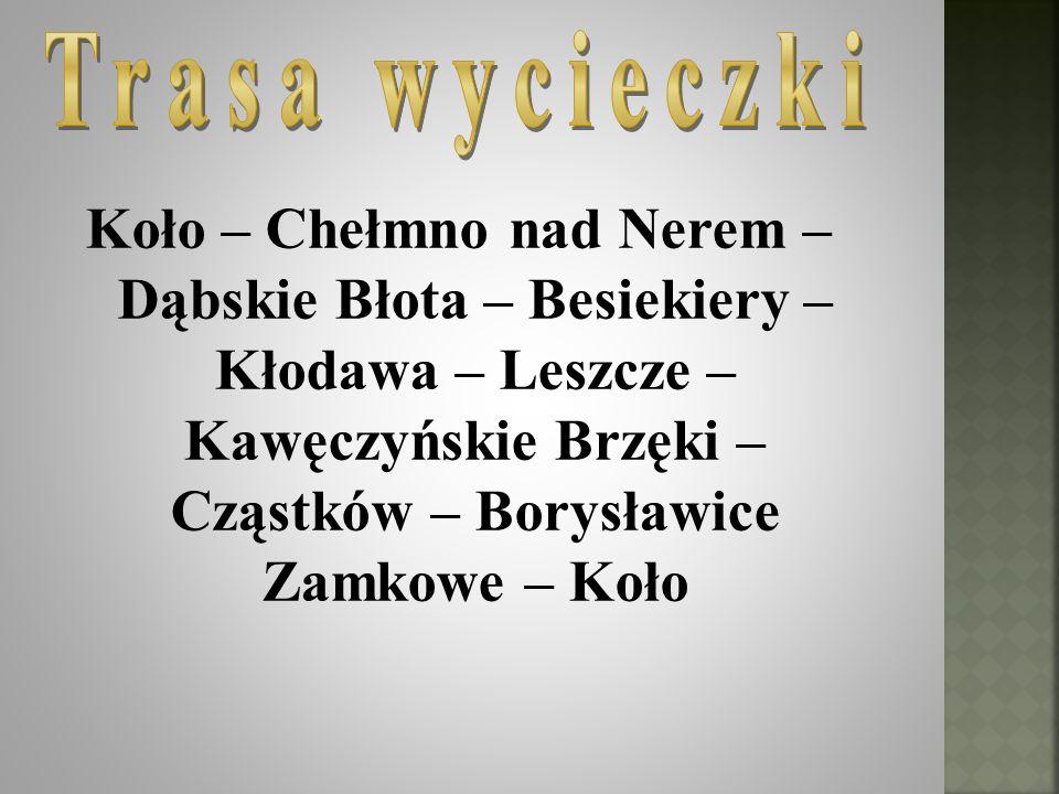 Przejazd z Leszczy do rezerwatu częściowego Kawęczyńskie Brzęki przez obszar chronionego krajobrazu Jezioro Modzerowskie.