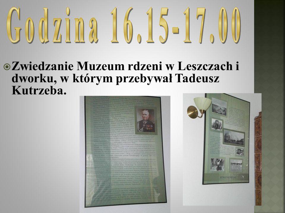 Zwiedzanie Muzeum rdzeni w Leszczach i dworku, w którym przebywał Tadeusz Kutrzeba.