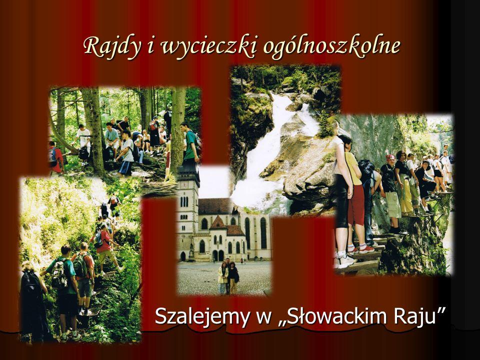 Rajdy i wycieczki ogólnoszkolne Szalejemy w Słowackim Raju