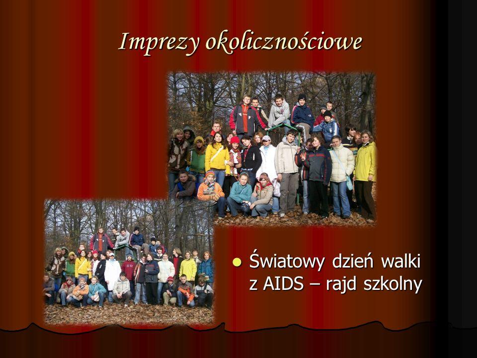 Imprezy okolicznościowe Światowy dzień walki z AIDS – rajd szkolny Światowy dzień walki z AIDS – rajd szkolny