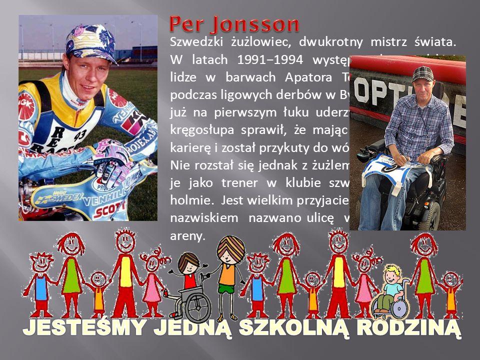 Szwedzki żużlowiec, dwukrotny mistrz świata.