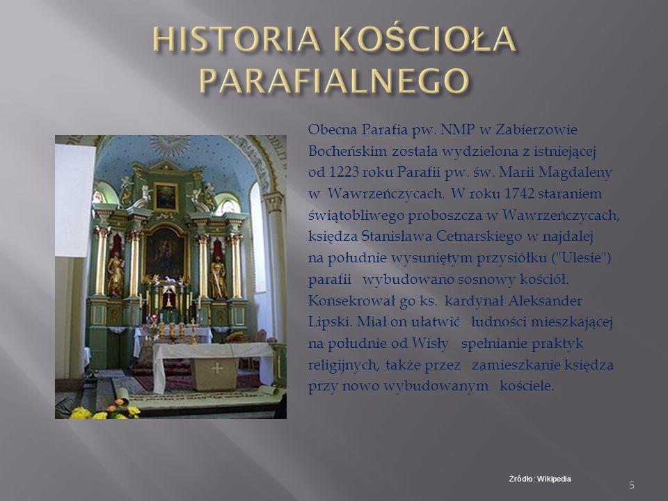 4 Pierwsza wzmianka o Zabierzowie Bocheńskim pochodzi z 1337roku. Pierwszy raz nazwę miejscowości Zabierzów Bocheński użyto dopiero w 1398 roku – poda