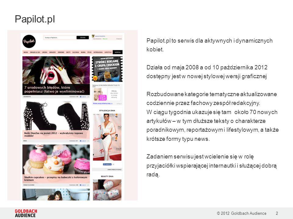 Papilot.pl to serwis dla aktywnych i dynamicznych kobiet. Działa od maja 2008 a od 10 października 2012 dostępny jest w nowej stylowej wersji graficzn
