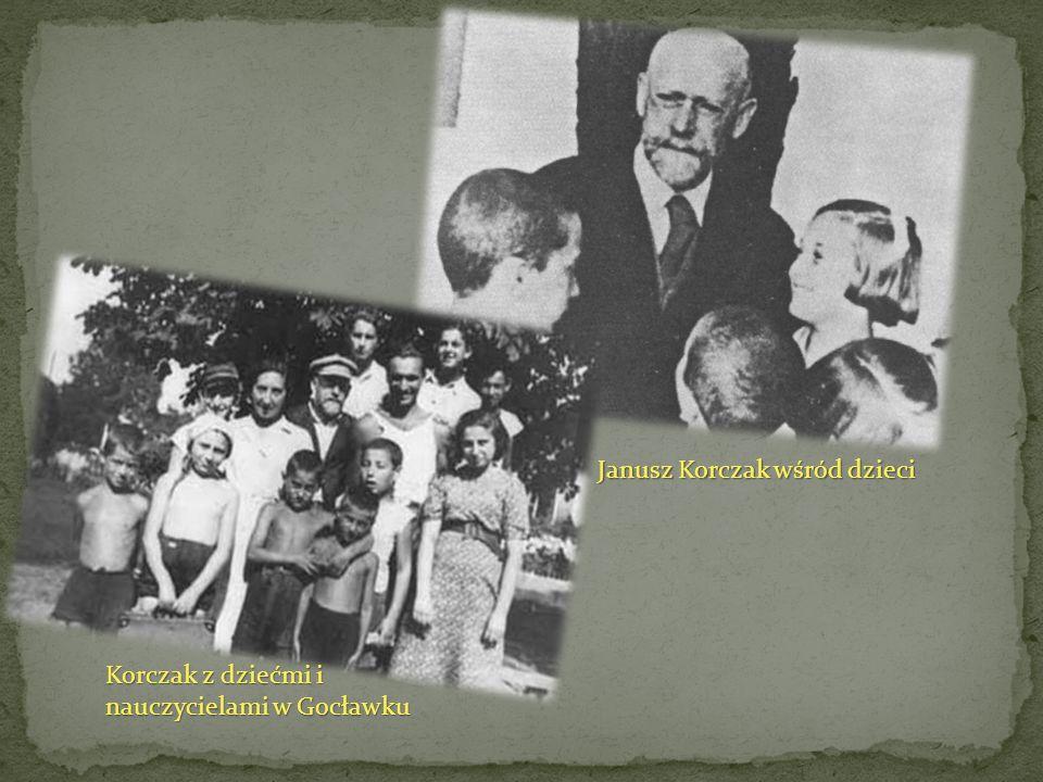 Korczak z dziećmi i nauczycielami w Gocławku Janusz Korczak wśród dzieci