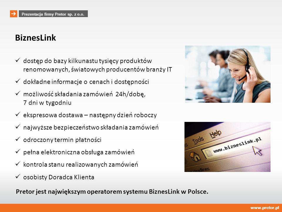 www.pretor.pl Prezentacja firmy Pretor sp. z o.o. Dział usług