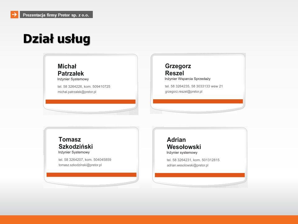 www.pretor.pl Prezentacja firmy Pretor sp.z o.o.