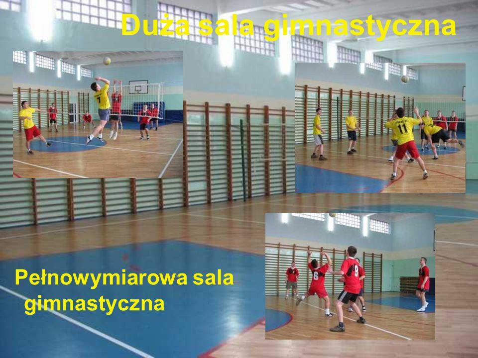 Duża sala gimnastyczna Pełnowymiarowa sala gimnastyczna
