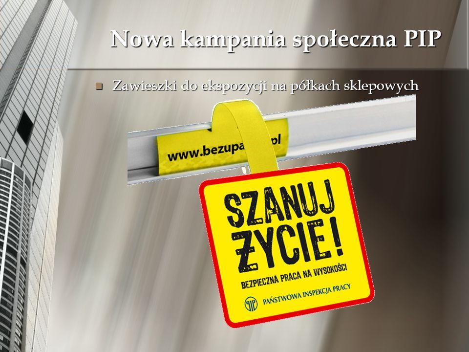 Nowa kampania społeczna PIP Zawieszki do ekspozycji na półkach sklepowych Zawieszki do ekspozycji na półkach sklepowych