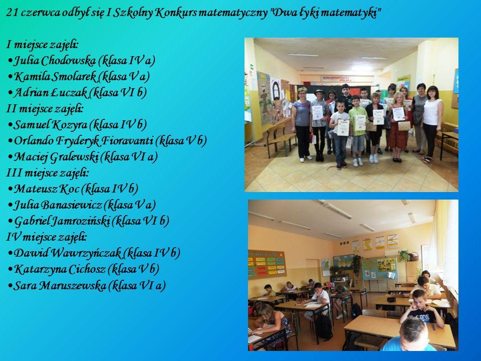 21 czerwca odbył się I Szkolny Konkurs matematyczny