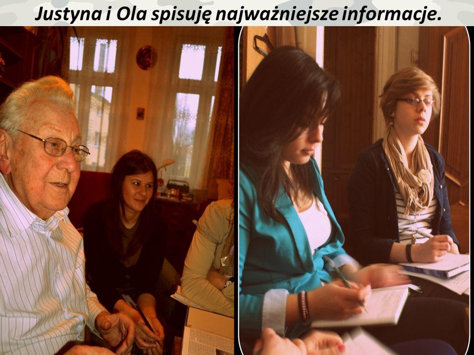 Justyna i Ola spisuję najważniejsze informacje.