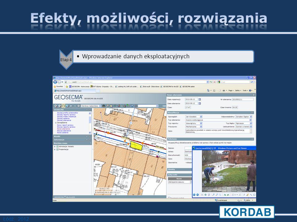 Łódź, 2012 Etap 4 Wprowadzanie danych eksploatacyjnych