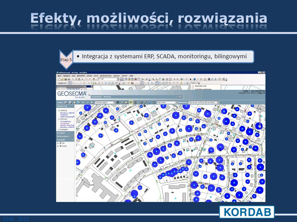 Łódź, 2012 Etap 5 Integracja z systemami ERP, SCADA, monitoringu, bilingowymi