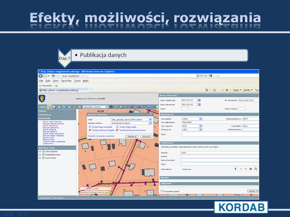 Łódź, 2012 Etap 7 Publikacja danych