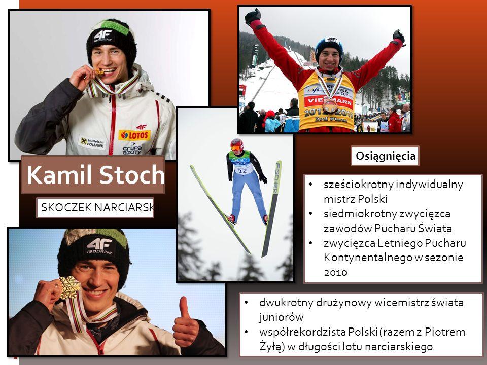 SKOCZEK NARCIARSKI Kamil Stoch dwukrotny drużynowy wicemistrz świata juniorów współrekordzista Polski (razem z Piotrem Żyłą) w długości lotu narciarsk