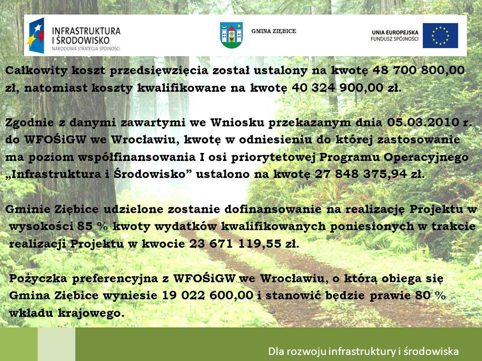 Całkowity koszt przedsięwzięcia został ustalony na kwotę 48 700 800,00 zł, natomiast koszty kwalifikowane na kwotę 40 324 900,00 zł.