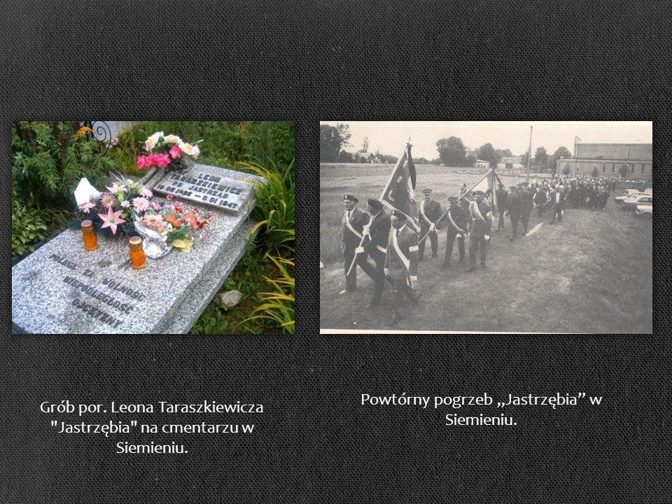 Grób por.Leona Taraszkiewicza Jastrzębia na cmentarzu w Siemieniu.