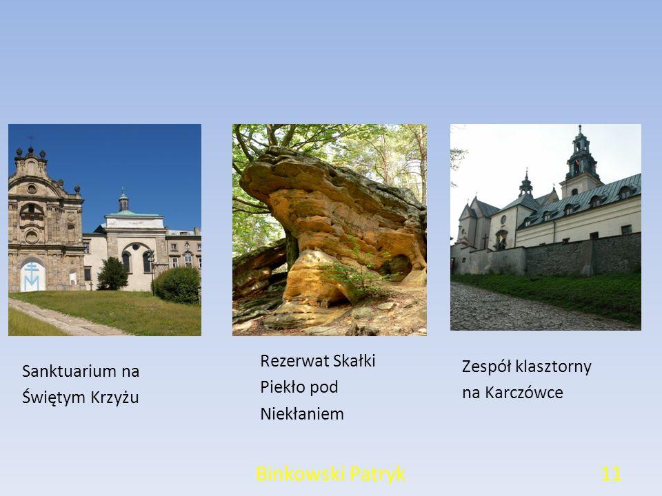 Binkowski Patryk11 Sanktuarium na Świętym Krzyżu Rezerwat Skałki Piekło pod Niekłaniem Zespół klasztorny na Karczówce