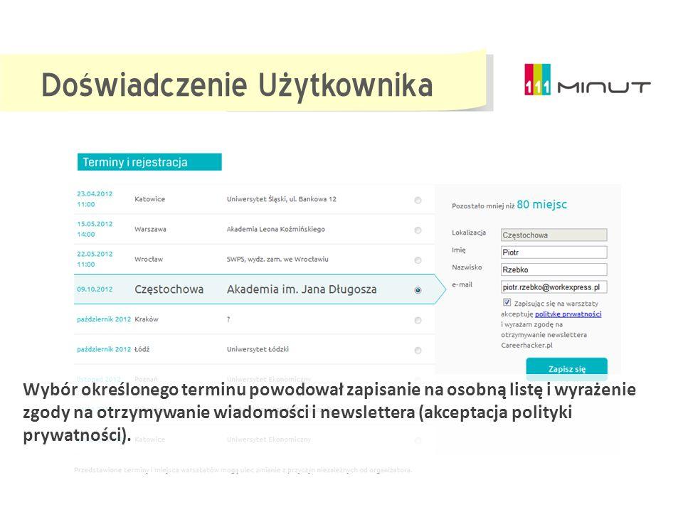 Promocja Strona internetowa www.111minut.pl Mailing do bazy Jobexpress.pl Plakat Ulotka Strony wydarzeń na Facebook Strony wydarzeń na Goldenline Prom